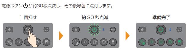 電源ボタンを押して30秒待つ
